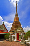 在Wat Pho的泰国大厦 免版税库存图片