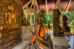 在Wat Pho的菩萨雕象猛击Khla, Chaochengsao 免版税库存图片