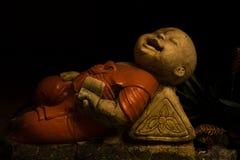 在Wat Pho的菩萨雕象 库存照片