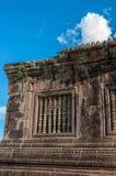 在Wat Phou的古老高棉建筑学 库存图片