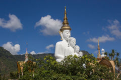 在wat phra儿子keaw的菩萨雕象 免版税库存照片