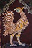 在Wat Phra Kaew的公共艺术绘画 免版税库存照片