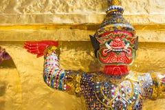 在Wat Pra Kaew,曼谷泰国的巨人 库存照片