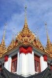 在Wat Ratchanadda的Loha Prasat 图库摄影