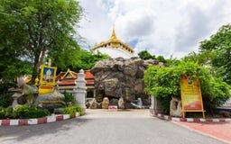在Wat Saket,一的金黄登上B多数旅行地标  图库摄影