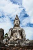 在Wat Trapang Ngoen的菩萨图象在Sukhothai历史公园 免版税库存照片