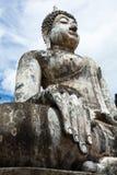 在Wat Trapang Ngoen的菩萨图象在Sukhothai历史公园 免版税图库摄影