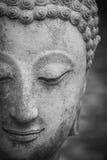 在wat umong,清迈的菩萨雕象,移动泰国寺庙 免版税库存图片