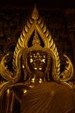 在Wat wat nang phaya pitsanuloke的菩萨雕象 免版税库存图片