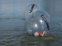 在water&的吸引力球形 免版税库存照片