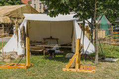 在Wawel城堡旁边的市场 库存照片