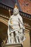 在Wawel城堡的国王雕象 免版税库存照片