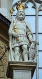 在Wawel城堡的国王雕象 免版税库存图片