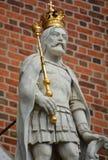 在Wawel城堡的国王雕象 库存照片