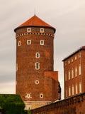 在Wawel城堡的Sandomierska塔在克拉科夫 免版税库存图片