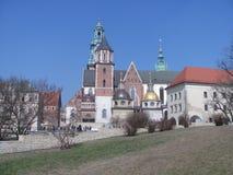在Wawel城堡里面的大厦 克拉科夫波兰 库存照片