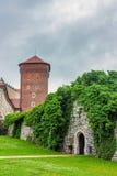 在Wawel皇家城堡里面 免版税库存照片