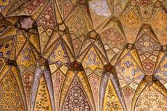 在Wazir可汗清真寺的Archtitecture细节 免版税图库摄影