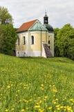 在Weltenburg附近的教堂 图库摄影