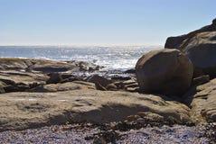 在Westcoast南非的日落 库存照片