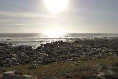 在Westcoast南非的日落 免版税库存照片