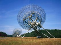 在Westerbork的无线电望远镜荷兰 免版税库存照片