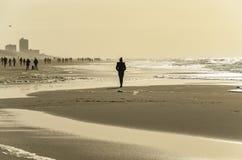 在Westerland附近的海滩 免版税库存照片