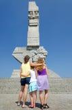 在Westerplatte纪念碑前面 免版税图库摄影