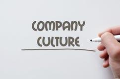 在whiteboard写的公司文化 免版税库存照片