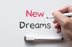 在whiteboard写的新的梦想 免版税库存照片