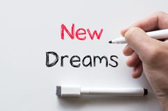 在whiteboard写的新的梦想 免版税库存图片