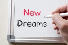 在whiteboard写的新的梦想 库存图片