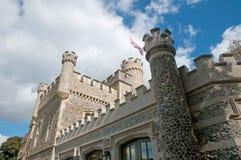 城堡的旗子 免版税库存图片