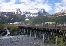 在whittier的一座铁路桥 免版税图库摄影