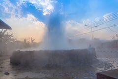 在Wiang Pa Pao清莱泰国的Mae Kajan温泉 免版税库存照片
