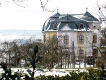 在winther期间的传统德国城堡 库存照片