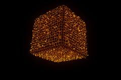 在Wireframe全息图样式的抽象形状元素 好的3D翻译 免版税库存照片
