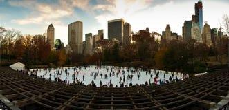 在Woolman的秋天颜色在中央公园溜冰。 纽约 库存图片