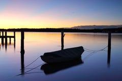 在Woy Woy,澳大利亚的日出 免版税图库摄影