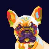 在wpap流行艺术的法国牛头犬 库存照片