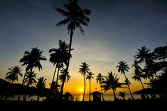 在Wua ta膝部海岛的日出 库存照片