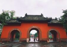 在Wuhou寺庙的精钟商专门 库存照片