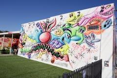 在Wynwood的艺术壁画 免版税图库摄影