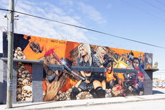 在Wynwood的艺术壁画 免版税库存图片
