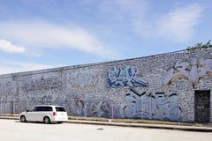 在Wynwood的艺术壁画 库存照片