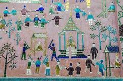 在Xieng皮带寺庙,古老寺庙,老挝的艺术。 免版税库存照片