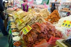 在Yehliu geopark,台湾的市场 免版税库存图片