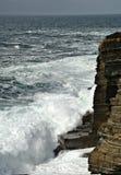 在yesnaby的风暴的orkney 免版税库存照片