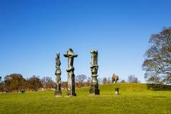 在YSP的现代雕塑 免版税库存照片