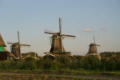 在Zaanse Schans的荷兰风车 库存照片